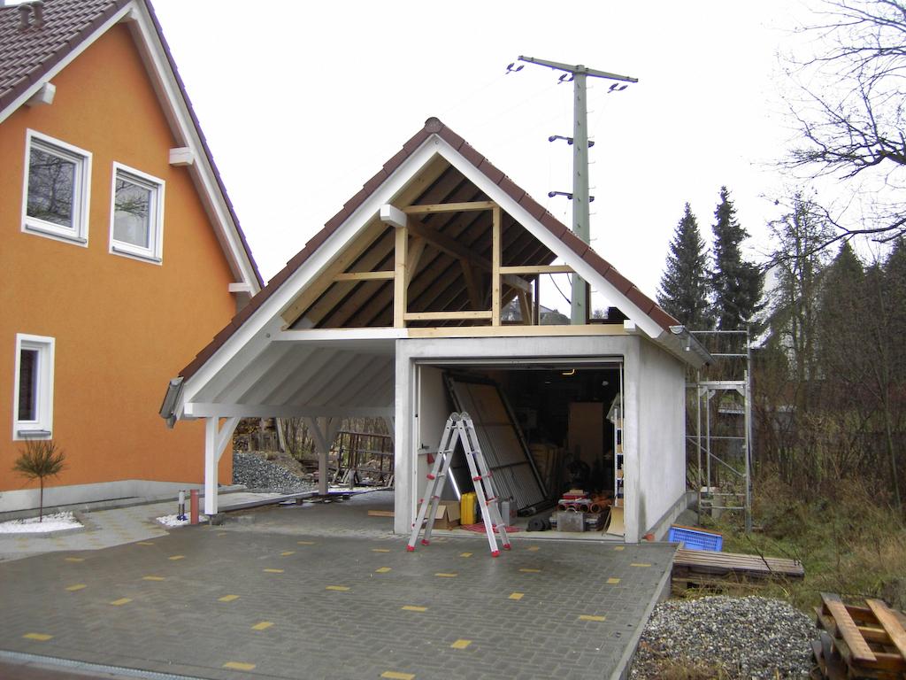 Dachstuhl Fertigstellung